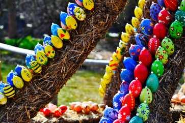 Huevos pascua pintados jardines palacio Ludwigsburg Selva Negra Alemania