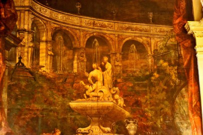 Tapices dioses fuente Friedrichsbad Baden Baden