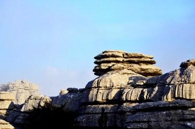 Rocas piedras calcáreas El Torcal Antequera