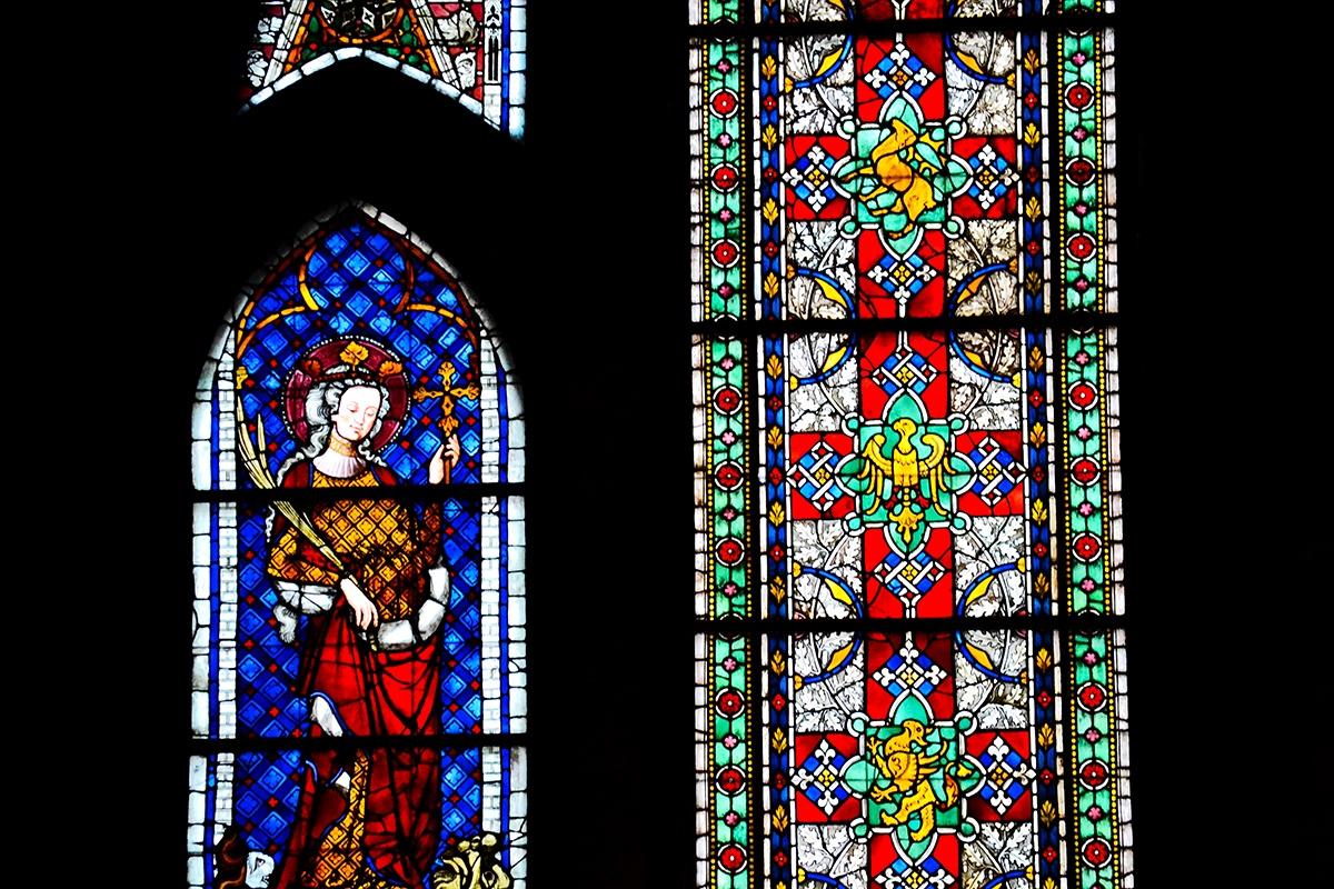 Vidrieras virgen Catedral Friburgo de Brisgovia