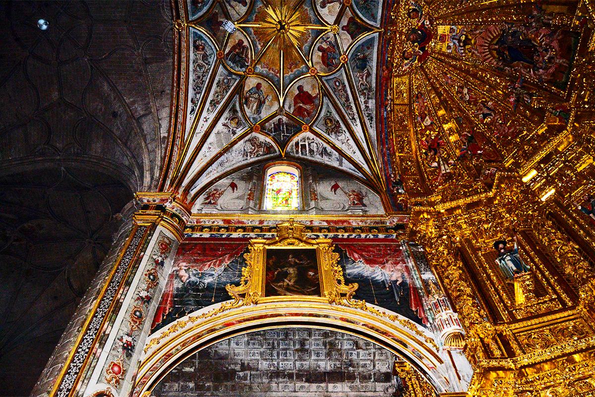 Frescos bóveda retablo Iglesia Nuestra Señora Asunción Navarrete