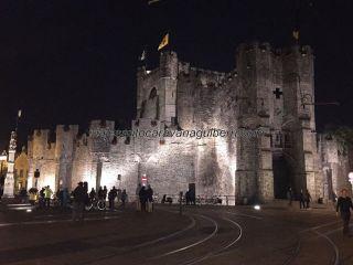 castillo por la noche