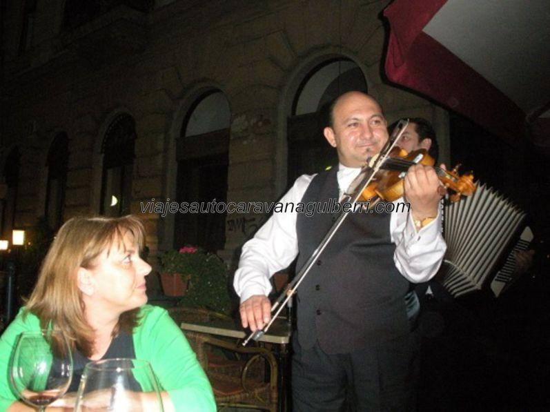 deliciosa y musical cena a las orillas del Danubio, existe mejor manera de empezar?