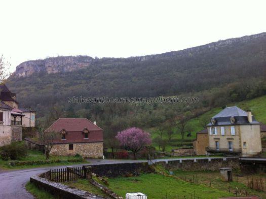 Autoire, vista parcial del valle desde el parking