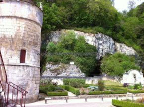 el jardín de los monjes, una vez atravesado el puente peatonal
