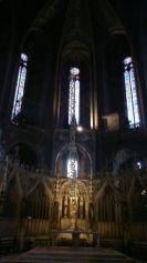 vidrieras y celosías en la catedral