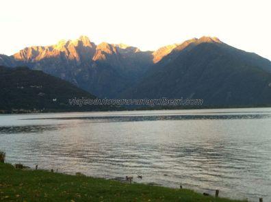 atardecer sobre Los Alpes, paz en l'anima