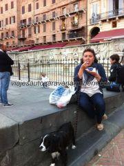 que degustamos descansando en Piazza il Palio, junto a la fontana