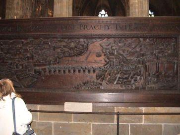 talla de madera Praga en siglo XVII en Catedral