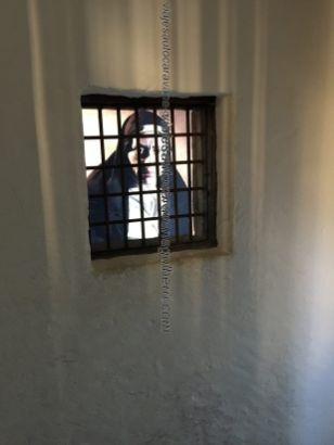 detalle interior confesionario Santa Teresa en Convento San Esteban