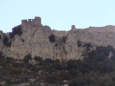 fortaleza Peyrepertuse en ruinas