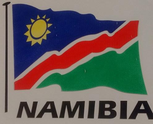 La bandera de Namibia