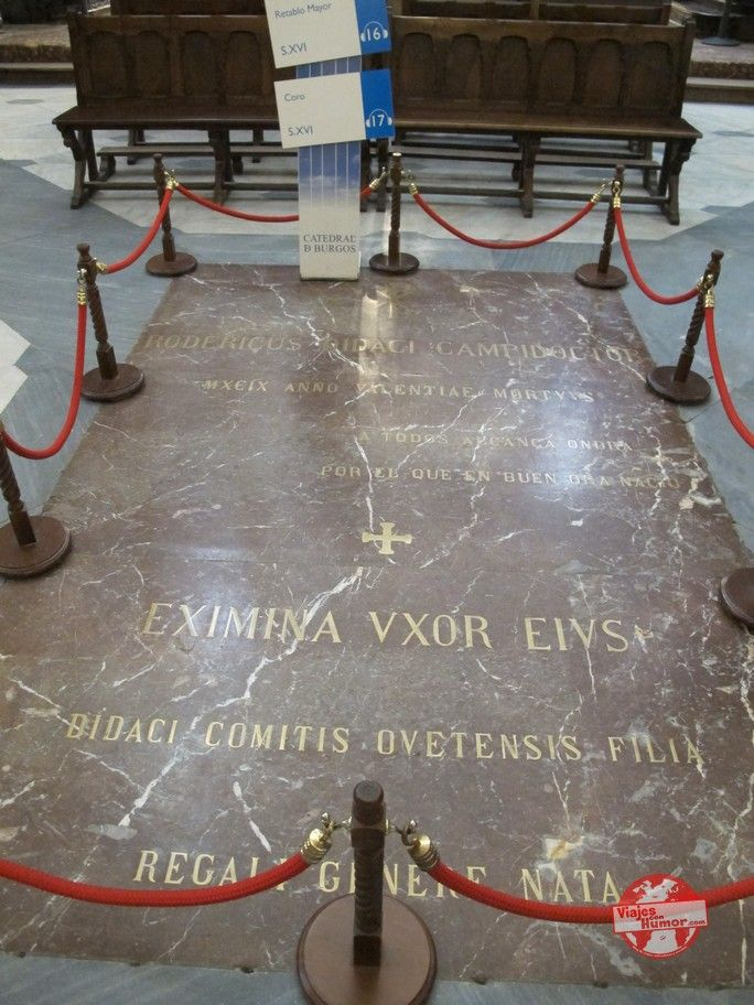 tumba del cid catedral de burgos