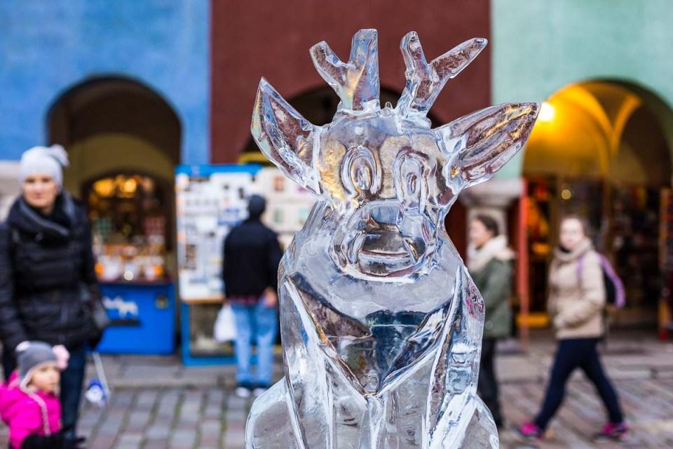 esculturas de hielo en poznan