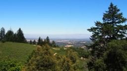 Santa Cruz Mts. con Silicon Valley al fondo
