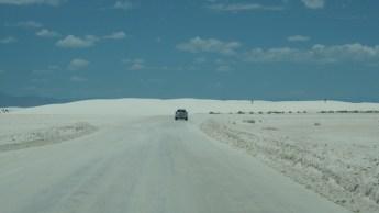 Entrando en White Sands National Park