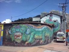 El dragón de la carrera tercera....muy cerquita de nuestra casa. ¡Ojo a la cola! (Foto: Jorge Curiel Yuste)