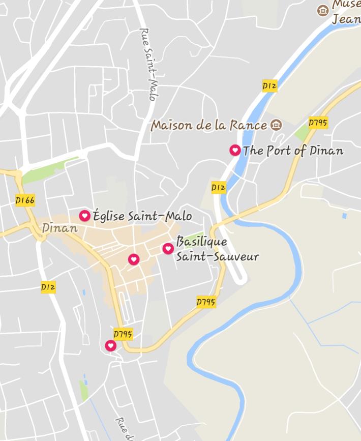 Mapa Dinan