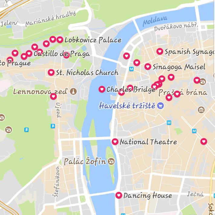 Mapa Praga