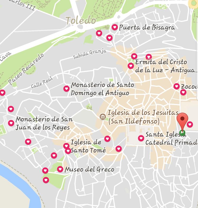Mapa Toledo (España)