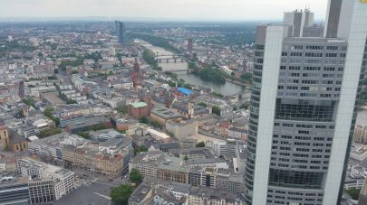 Vistas skyline desde la Main Tower. Frankfurt (Alemania)