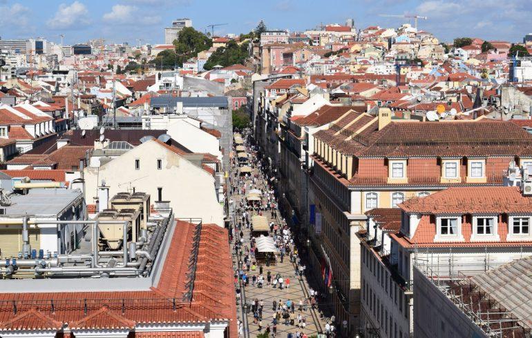 Vistas desde el Arco de la Rua Augusta,. Lisboa (Portugal)