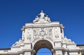 Arco de la Rua Augusta, visto desde Praça do Comercio. Lisboa (Portugal)