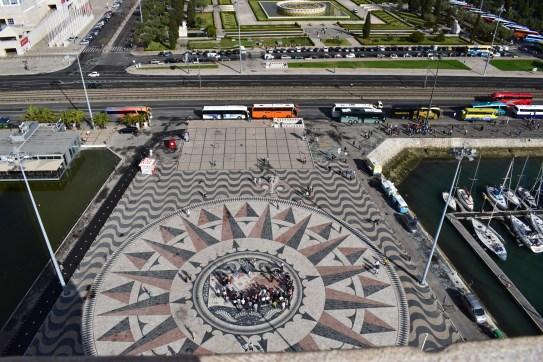 Vistas desde el Padrão dos Descubrimentos. Lisboa (Portugal)