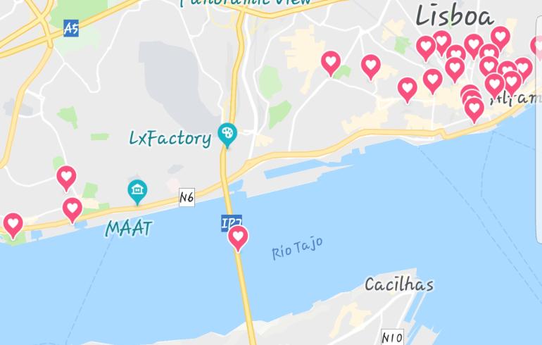 Mapa Lisboa (Portugal)