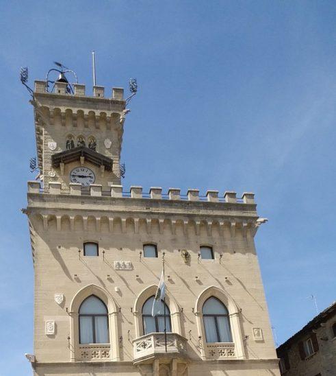 Piazza della Libertá. San Marino.