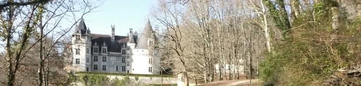 Castillo Puyguilhem. Perigord, Aquitania (Francia)
