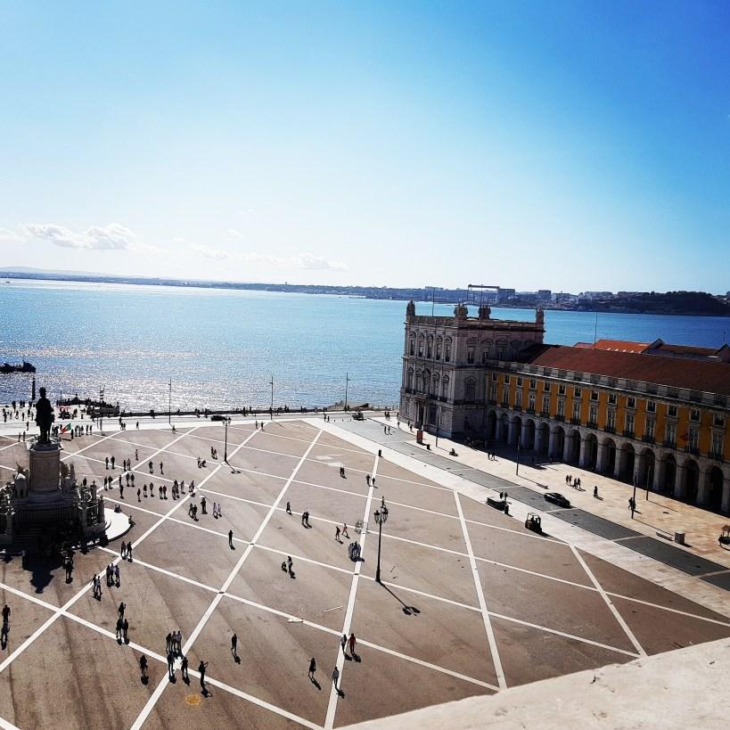 Vistas desde el mirador Arco da Rua Augusta. Lisboa (Portugal)