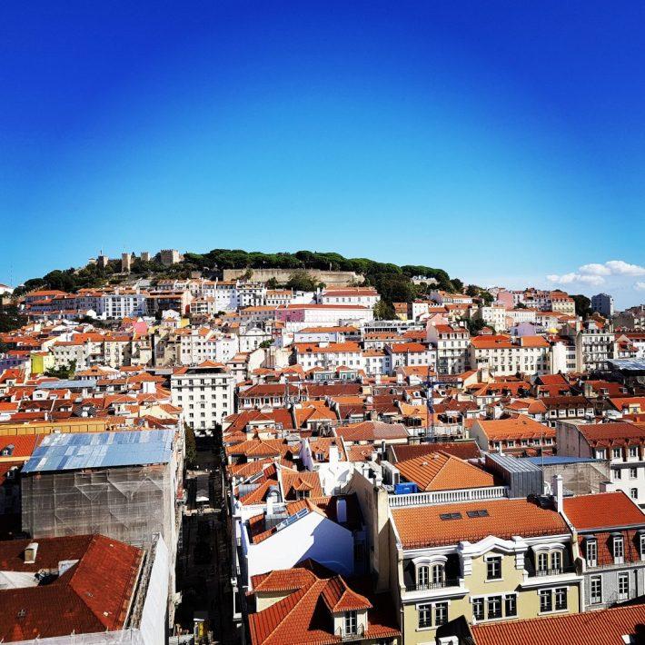 Vistas desde el mirador del Elevador de Santa Justa. Lisboa (Portugal)