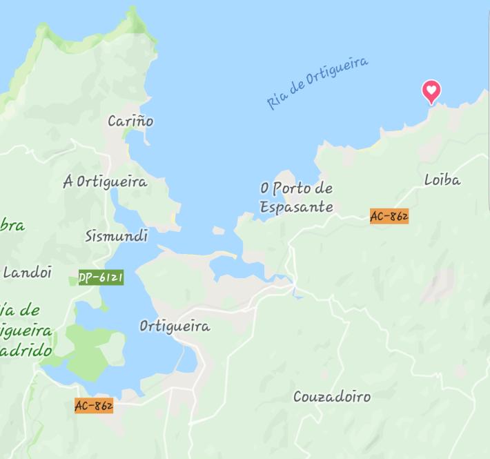 Mapa Loiba, A Coruña (España)
