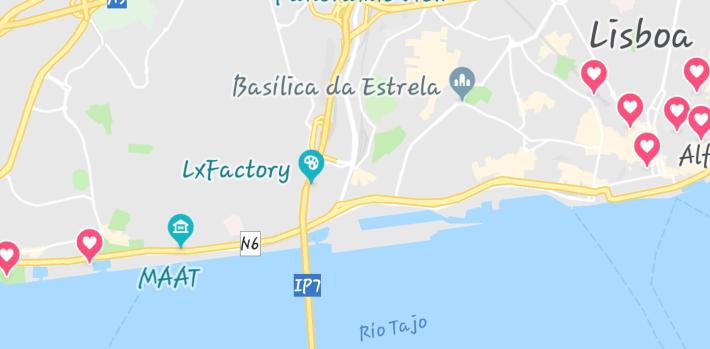 Mapa Miradores Lisboa (Portugal)