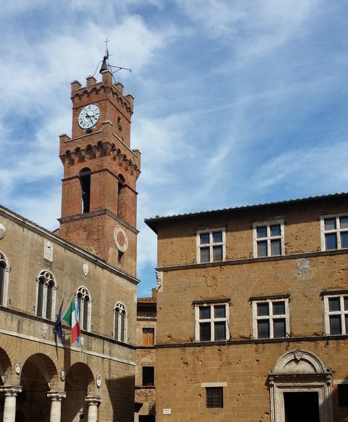 Plaza Pío II. Pienza (Italia)