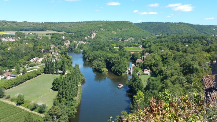 Río Lot visto desde Saint Cirq Lapopie (Francia)