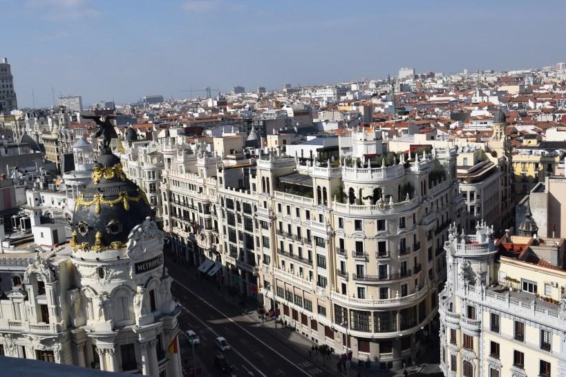 Vistas desde el mirador del Círculo de Bellas Artes. Madrid (España)