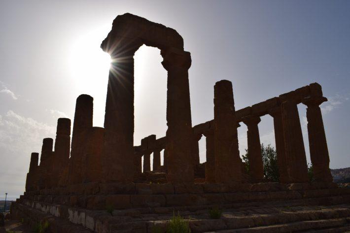 Templo de Hera, Valle de los Templos, en Agrigento, Sicilia (Italia)