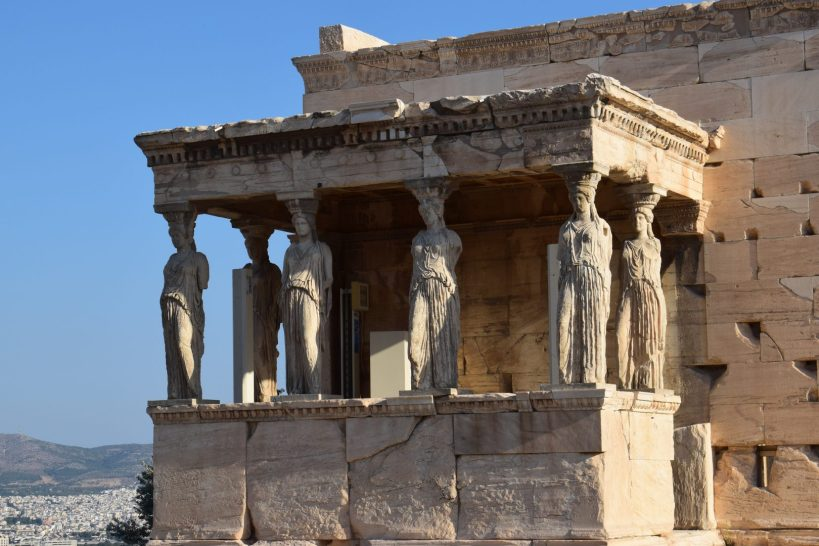 El Erecteion y las Cariátides, La Acrópolis, Atenas (Grecia)