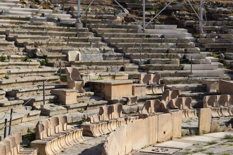 Teatro de Dionisio, La Acrópolis, Atenas (Grecia)