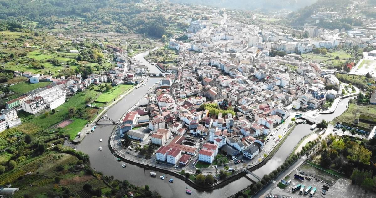 VIDEO: GALICIA DESDE EL AIRE: BETANZOS, A CORUÑA (ESPAÑA)