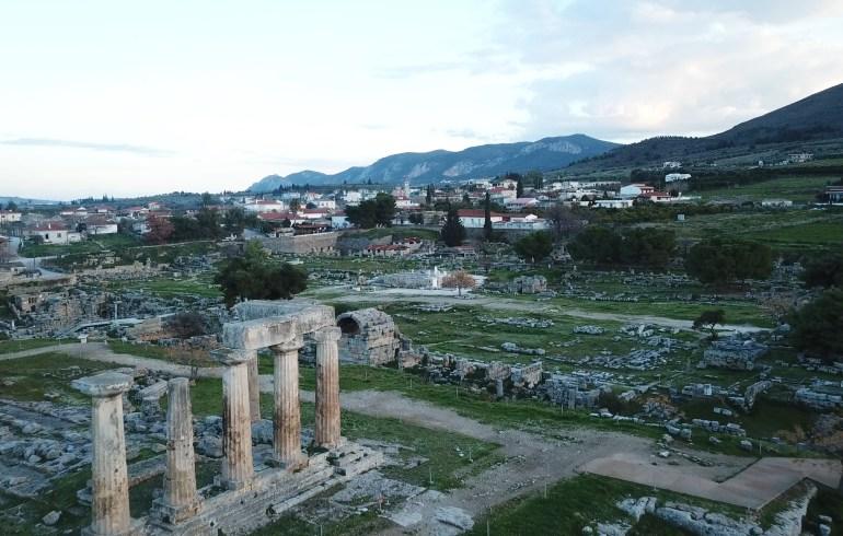 Ancient Korinto, Peloponeso (Grecia)
