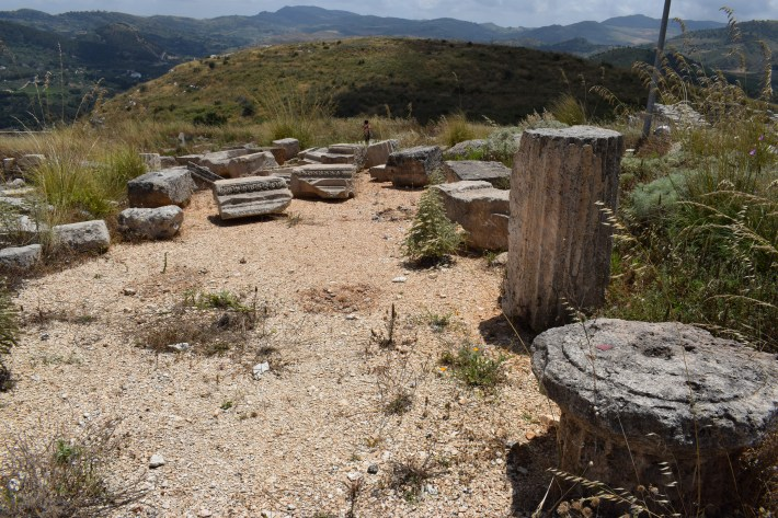 Ruinas del ágora, Segesta, Sicilia (Italia)