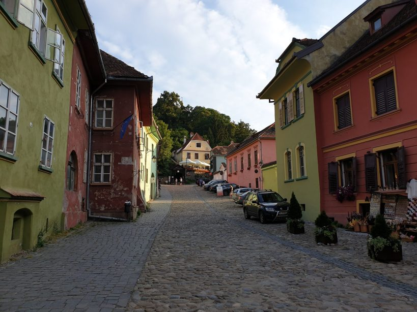Strada Scolii, Sighisoara (Rumanía)