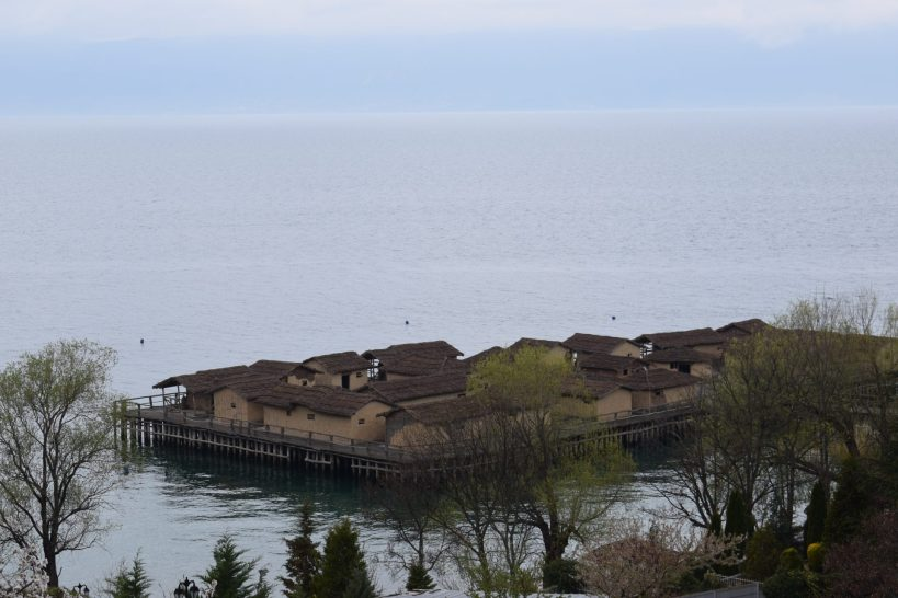 Bahía de los huesos, Lago Ohrid (Macedonia del Norte)