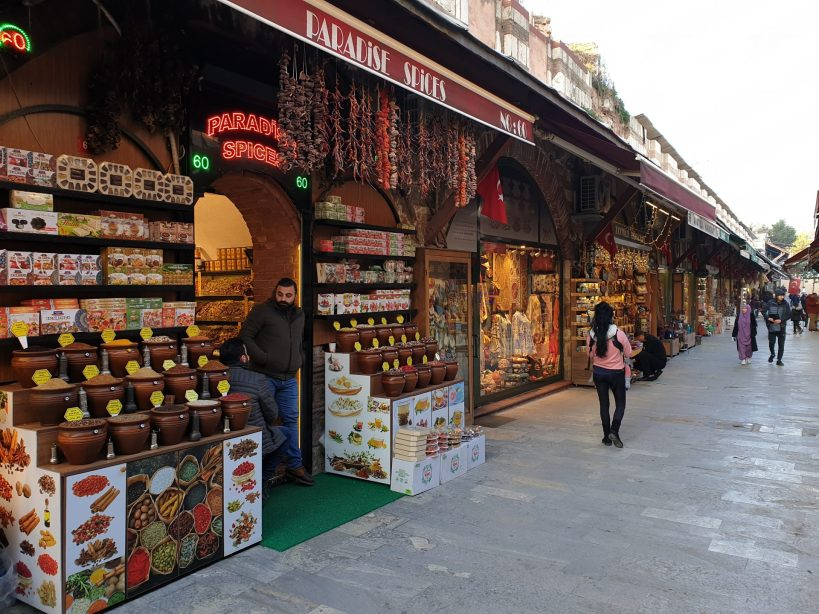 Bazar de Arasta, junto a la Mezquita Azul (Turquía)