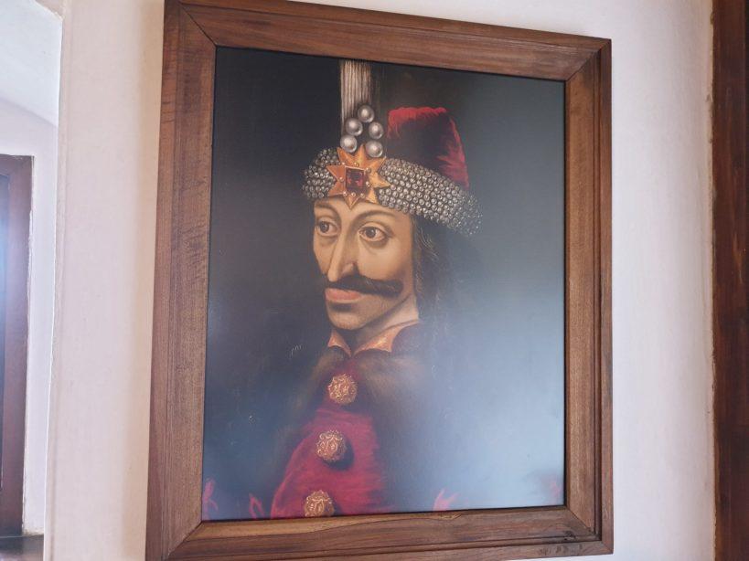 Retrato de Vlad Tepes en el interior del Castillo de Bran (Transilvania, Rumanía)