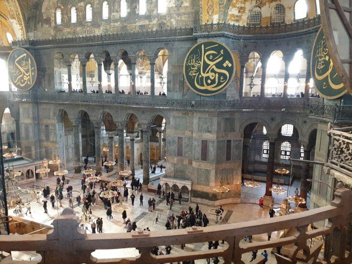Espectacular interior de la Basílica de Santa Sofía, Estambul (Turquía)
