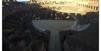 Visita al coliseo de Roma